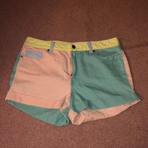 Forever 21 Colorblock Shorts